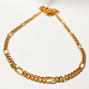 Beautiful 98cm metal Figaro chain necklace